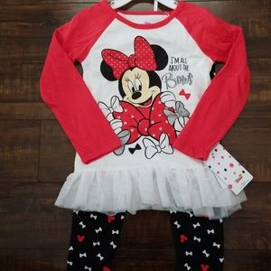Minnie Mouse Long Sleeve and Pants Outfit